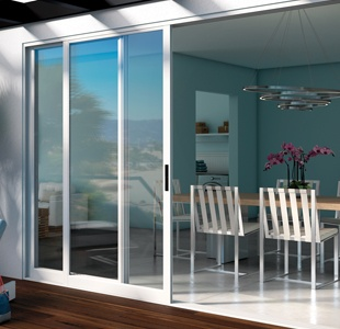 Pocket Glass Walls in Aluminum